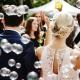 Paar am Hochzeitstag