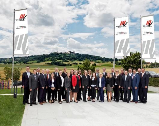 Unternehmensmitarbeiter Gruppenfoto